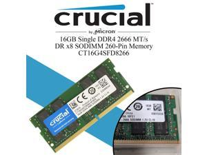 Crucial RAM Memory 16GB DDR4 2666MHz DRAM (Notebook Memory) CL19 1.2V DR SODIMM (260-pin) (CT16G4SFD8266) 1.2V Compatibility With DELL OptiPlex 5050 MFF