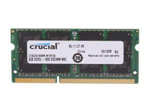 Crucial Laptop Memory Mac CT8G3S160BM 8GB 2RX8 DDR3L 1600Mhz(PC3 12800) 204-Pin 1.35V SODIMM RAM For 16GB DDR3L-1600 SODIMM Memory for HP 22-b003nl All-in-One