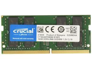 Crucial/Micron SDRAM 16GB 260-Pin DDR4 SO-DIMM DDR4 2666 (PC4 21300) Laptop Memory Model CT16G4SFD8266 for ASUS VivoBook Flip 14 TP410UA