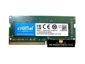 Crucial 8gb DDR4 3200 LAPTOP RAM PC4 25600 SODIMM Laptop Memory 260-PIN CL22 CT8G4SFS632A.M4FE