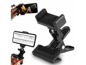 Guitar Headstock Music Mobile Phone Holder Bracket Stand Cell Phone Clip Clamp