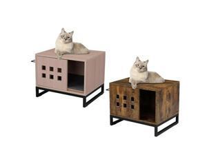 Pet Cat Litter Box Multi-Function Nightstands Sidetable Cat Litter Box Enclosure