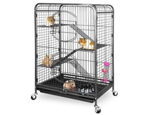 """37"""" 4 Levels Small Animals Hutch Ferret Cage Chinchilla with 2 Front Door  Tray"""