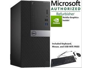 Entry Gaming Dell Optiplex 7040 MiniTower, Core i5-6500, 16 GB DDR4, 256 GB SSD + 1 TB HDD, Nvidia GT 1030 2 GB, Windows 10 Home * Grade A *