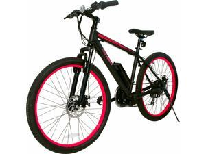 """Hover-1 Fuel UL Certified Pedal Assisted Electric Bike w/ 26"""" Wheel, Alloy Frame, 3 Speed Mode, Removeable Battery, Shimano Derailer, Front & Rear Disc Breaks - Red and Black"""