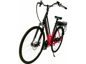 """Hover-1 Drift UL Certified Pedal Assisted Electric Bike w/ 28"""" Wheel, Alloy Frame, 3 Speed Mode, Shimano Derailer, Front & Rear Disc Breaks - Red and Black"""