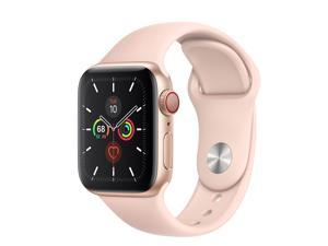 Apple Watch Series 5 40mm GPS + Cellular 4G Unlocked (Gold Aluminum Case with Pink Sand Sport Band) MWWP2LL/A