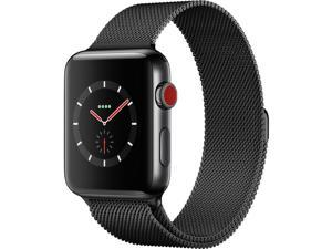 Apple Watch Series 3 42mm Space Black Stainless Steel Case with Space Black Milanese Loop (GPS + Cellular Unlocked) MRL12LL/A