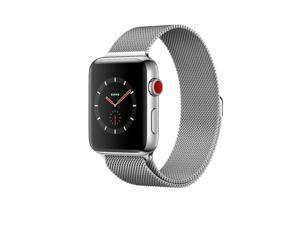 Apple Watch Series 3 42mm (GPS + Cellular Unlocked) Stainless Steel Case with Stainless Steel Milanese Loop MRL12LL/A