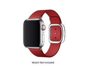 Apple 40mm Ruby (PRODUCT)RED Modern Buckle for Apple Watch Medium (Stainless Steel Buckle, Leather Band) MV6N2AM/A