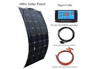 XINPUGUANG 100w Flexible Solar Panel Kit Monocrystalline Solar Module for Car RV Home