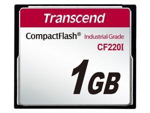 Transcend 1GB Industrial Temperature Range CF220I 220X Ultra CompactFlash (SLC)