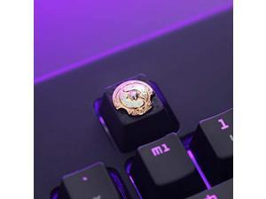 All Gaming Keycaps DIY Metal Keycap Stereo Embossed Personality Keycap for Cherry Switches Mechanical Keyboards (Dota Champion Shield)