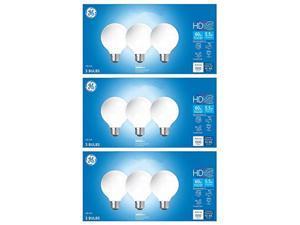 GE Lighting HD LED (60-Watt Replacement), 500-Lumen G25 Bulb, Medium Base, Title 20 Compliant, Frosted Daylight, 9 Bulbs