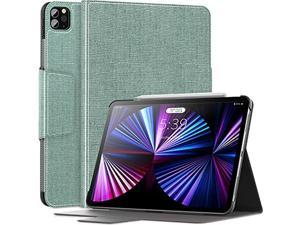 INFILAND Compatible with iPad Pro 11 Case 2021, Multiple Angle Stand Cover Fit iPad Pro 11 2021/2020/2018 [Support 2nd Gen Apple Pencil Wireless Charging] Mint Green