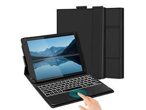 """Jelly Comb Backlit Bluetooth Keyboard Case with Trackpad for 9""""-11"""" Windows/Android/iPad OS Tablets, Wireless Keyboard with Touchpad for iPads, Samsung, Lenovo, Microsoft Surface, Black"""