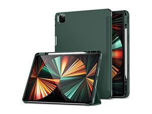 ESR Pencil Case Compatible with iPad Pro 12.9 2021, Pencil 2 Holder, Flexible Back Cover, Auto Sleep and Wake, Viewing and Writing Stand, Rebound Series, Pine Green