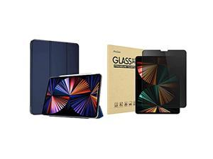 ProCase iPad Pro 12.9 Inch Slim Stand Case 2 2018 Bundle with iPad Pro 12.9 Inch Privacy Screen Protector 2 2018
