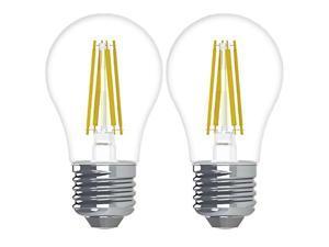 GE Relax HD LED Light Bulbs, 60-Watt Replacement, 2-Pack, Soft White Clear, A15 Ceiling Fan Light Bulbs, Dimmable, Medium Base