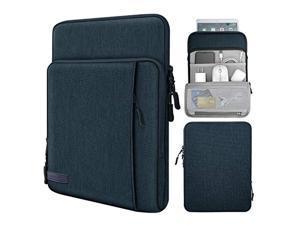 MoKo 9-11 Inch Tablet Sleeve Bag Carrying Case with Storage Pockets Fits iPad Pro 11 2021/2020/2018, iPad 8th 7th Generation 10.2, iPad Air 4 10.9, iPad 9.7, Galaxy Tab A 10.1 - Indigo