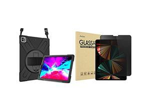 ProCase iPad Pro 12.9 2020 & 2018 Rugged Case Bundle with iPad Pro 12.9 Inch Privacy Screen Protector 2 2018