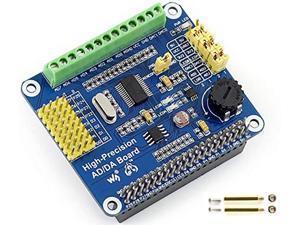High-Precision AD/DA Expansion Board for Raspberry Pi 4B/3B+/3B/2B/Zero/W/Zero WH and Jetson Nano,Add High-Precision AD/DA Functions to Pi. Onboard ADS1256 8-CH 24bit ADC and DAC8532 2-CH 16bit DAC