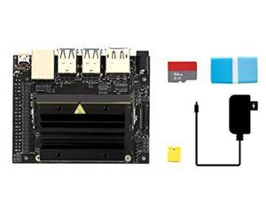 Waveshare Jetson Nano Developer Kit Package A Bundle with 64GB Micro Card Jumper Cap Card Reader and Power Adapter (5 Items)