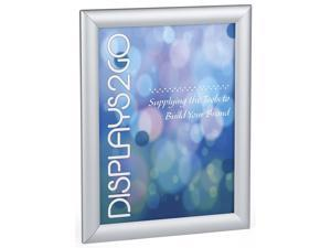 Snap Open Sign Holder, 8.5x11-Inch, Wall Mount or Tabletop, Frame with Lens (Silver Aluminum) (WSNF8511SV)