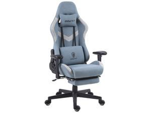 Dowinx Gaming Chair Breathable Fabric Office Chair with Massage Lumbar Support, High Back Ergonomic Comouter Chair Adjustable Swivel Task Chair with Footrest (Blue)