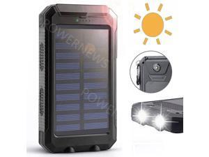 Waterproof 9000000mAh Portable Solar Charger Dual USB Battery Power Bank