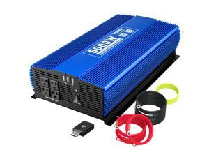 5000W Car Power Inverter 4AC Outlets 12VDC to 10VAC Car Inverter Wireless Remote