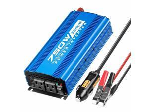750W Car Power Inverter DC 12V to 110V Dual AC Outlets 2A USB Port