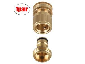 Garden Hose Quick Connect Solid Brass Water Connector Female Male Fitting 3/4''