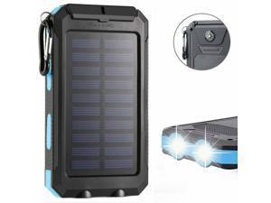 Waterproof 3000000mAh 2 USB Portable Solar Battery Charger Solar Power Bank KB