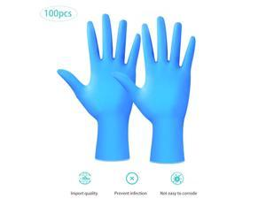 100 Pcs Disposable Gloves Latex Dishwashing/Garden/Kitchen/Medical Rubber Or Cleaner Gloves Universal Work Gloves ( Size: M)
