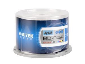 50pcs Blu-ray 25GB 10X Blank Disc White Inkjet Printable