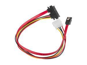 SATA 22 Pin Combo Cable Data Power Wire Molex Adapter