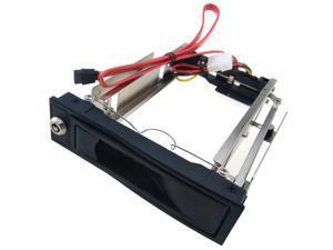 "3.5"" to 5.25"" Bay Adapter HDD Rack Mount Hard Drive SATA Data Power"