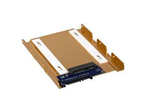 """2.5 to 3.5"""" SSD HDD Aluminum Mount SATA 3 Connector PC Server Bracket"""