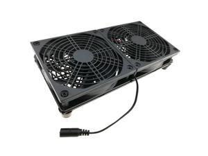 Dual 120mm Cooler Fan 12V DC Cooling Stand 1800RPM