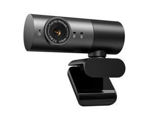 Webcam HD 1080P Clip-on USB Camera Speaker Mic Live Streaming Call