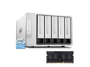 TerraMaster F5-221 NAS 5-Bay Cloud Storage Intel Dual Core 2.0GHz 2GB DDR Network Storage +2GB DDR (Diskless)