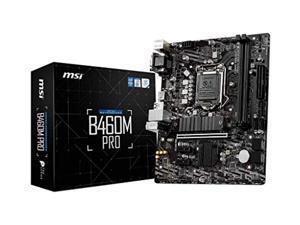 MSI B460M PRO ProSeries Motherboard (mATX, 10th Gen Intel Core, LGA 1200 Socket, DDR4, M.2, USB 3.2 Gen 1, 2.5G LAN, DSUB/DVI/HDMI)