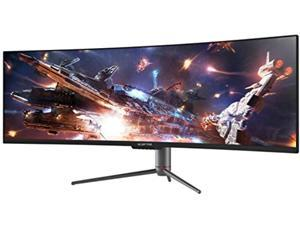 Sceptre Curved 49 inch (5120x1440) Dual QHD 32:9 Gaming Monitor up to 120Hz DisplayPort HDMI Build-in Speakers, Gunmetal Black 2021 (C505B-QSN168) (C505B-QSN168)