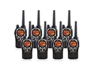 Midland GXT1000VP4 50 Channel GMRS Two-Way Radio - Up to 36 Mile Range Walkie Talkie - Black/Silver (Pack of 8) (GXT1000X8VP4)