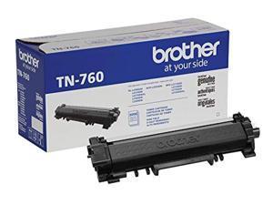 Brother Genuine Cartridge TN760 High Yield Black Toner (TN760)