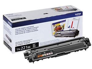 Brother Genuine Standard Yield Toner Cartridge, TN221BK, Replacement Black Toner, Page Yield Upto 2,500 Pages,  Dash Replenishment Cartridge, TN221 (TN221BK)