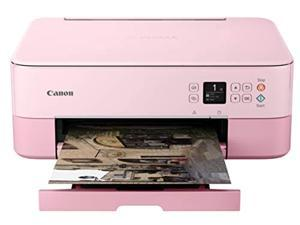 Canon PIXMA TS5320 All In One Wireless Printer, Scanner, Copier with AirPrint, Pink, Works with Alexa (3773C042)