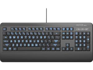 AZIO - KB530 Antimicrobial Wired Membrane Keyboard for PC - Black (KB530)