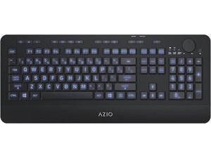 AZIO - KB510W Wireless Keyboard for PC - Black (KB510W)